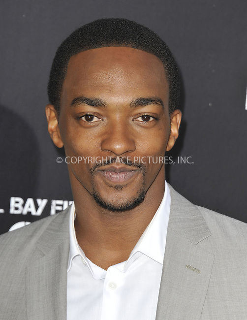 WWW.ACEPIXS.COM....April 22 2013, LA....Anthony Mackie arriving at the 'Pain & Gain' premiere held at TCL Chinese Theatre on April 22, 2013 in Hollywood, California. ....By Line: Peter West/ACE Pictures......ACE Pictures, Inc...tel: 646 769 0430..Email: info@acepixs.com..www.acepixs.com