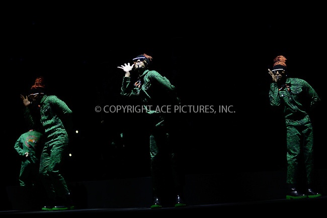 www.acepixs.com<br /> October 19, 2016  New York City<br /> <br /> Models performing at KENZO x H&amp;M Launch Event Directed By Jean-Paul Goude at Pier 36 on October 19, 2016 in New York City.<br /> <br /> <br /> Credit: Kristin Callahan/ACE Pictures<br /> <br /> <br /> Tel: 646 769 0430<br /> Email: info@acepixs.com