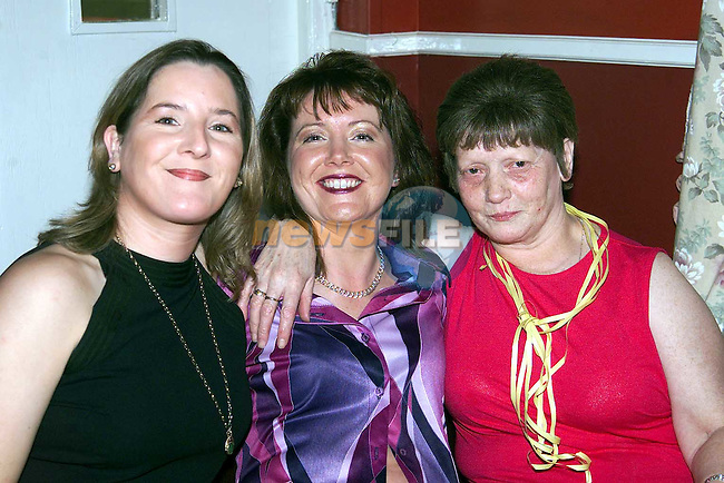 Sharon Sullivan, Five Oaks, Lesley Fay, Brianstown and Josephine Campbell, Clogherhead at the Bissell farewell party in the O'Raghallaigh's..Picture: Paul Mohan/Newsfile