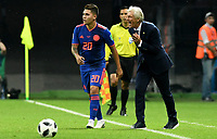 KAZAN - RUSIA, 24-06-2018: Jose PEKERMAN técnico de Colombia reacciona durante partido contra de Polonia de la fecha 17 por la clasificación Copa Mundial de la FIFA Rusia 2018 jugado en el estadio Kazan Arena en Kazán, Rusia. / Jose PEKERMAN coach of Colombia reacts during match against Polonia of the first phase, Group H, for the FIFA World Cup Russia 2018 played at Kazan Arena stadium in Kazan, Russia. Photo: VizzorImage / Julian Medina / Cont