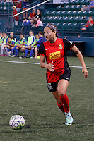 Rochester, NY - Friday June 24, 2016: Western New York Flash defender Jaelene Hinkle (15) during a regular season National Women's Soccer League (NWSL) match between the Western New York Flash and the Boston Breakers at Rochester Rhinos Stadium.