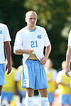 02 September 2013: North Carolina's Cooper Vandermaas-Peeler. The University of North Carolina Tar Heels hosted the Coastal Carolina University Chanticleers at Fetzer Field in Chapel Hill, NC in a 2013 NCAA Division I Men's Soccer match. UNC won the game 4-0.