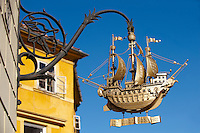 The Golden Ship Sign created by Bandi Schima 1938 - ( Gy?r )  Gyor Hungary