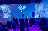 Picture by Allan McKenzie/SWpix.com - 05/10/17 - Cricket - Yorkshire County Cricket Club Gala Dinner 2017 - Elland Road, Leeds, England - General view, gv, room setup.