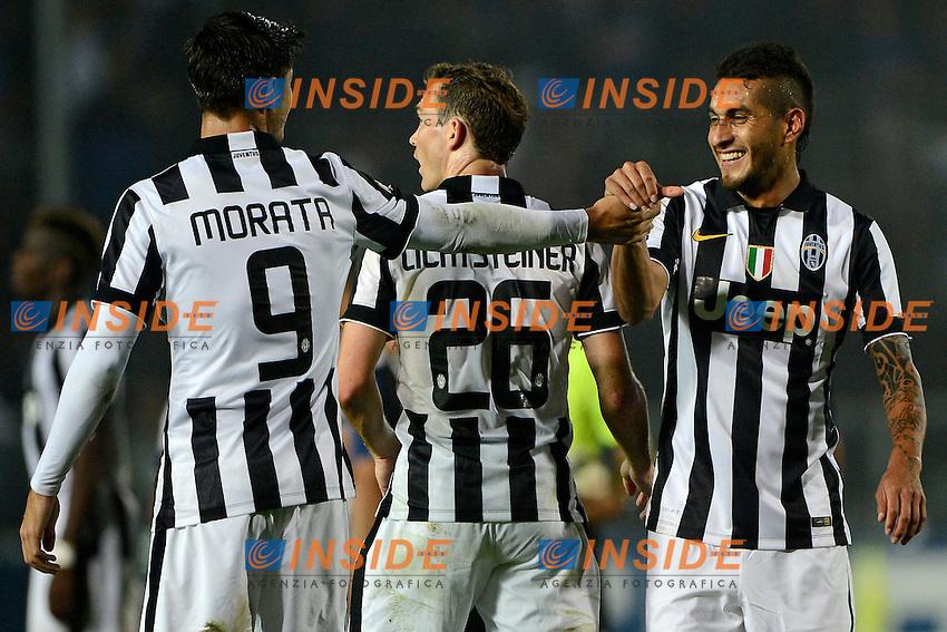 Alvaro Morata, Roberto Pereyra Juventus<br /> Bergamo 27-09-2014 Stadio Atleti Azzurri d'Italia - Football 2014/2015 Serie A. Atalanta - Juventus Foto Giuseppe Celeste / Insidefoto
