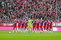 14.02.2015, Allianz Arena, Muenchen, GER, 1. FBL, FC Bayern Muenchen vs Hamburger SV, 21. Runde, im Bild Schweigeminute, FC Bayern // during the German Bundesliga 21th round match between FC Bayern Munich and Hamburger SV at the Allianz Arena in Muenchen, Germany on 2015/02/14. EXPA Pictures © 2015, PhotoCredit: EXPA/ Eibner-Pressefoto/ Kolbert<br /> <br /> *****ATTENTION - OUT of GER***** <br /> Football Calcio 2014/2015<br /> Bundesliga Germania<br /> Foto Expa / Insidefoto