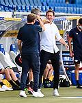 Co-Trainer Matthias Kaltenbach (Hoffenheim, l.) klatscht mit Trainer Julian Nagelsmann (Leipzig, r.).<br /> <br /> Sport: Fussball: 1. Bundesliga: Saison 19/20: 31. Spieltag: TSG 1899 Hoffenheim - RB Leipzig, 12.06.2020<br /> <br /> Foto: Markus Gilliar/GES/POOL/PIX-Sportfotos