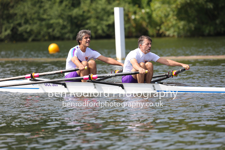 Race: 38  MasE.2x  Quarter-Final<br /> 107  Bentham Boat Club<br /> 110  Bexhill Rowing Club<br /> <br /> Henley Masters Regatta 2018 - Friday<br /> <br /> To purchase this photo, or to see pricing information for Prints and Downloads, click the blue 'Add to Cart' button at the top-right of the page.