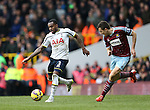 Tottenham's Danny Rose goes past West Ham's Stewart Downing<br /> <br /> Barclays Premier League - Tottenham Hotspur  vs West Ham  - White Hart Lane - England - 22nd February 2015 - Picture David Klein/Sportimage