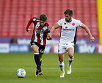 David Brooks of Sheffield Utd and Joe Edwards of Walsall during the Carabao Cup First Round match at Bramall Lane Stadium, Sheffield. Picture date: August 9th 2017. Pic credit should read: Simon Bellis/Sportimage