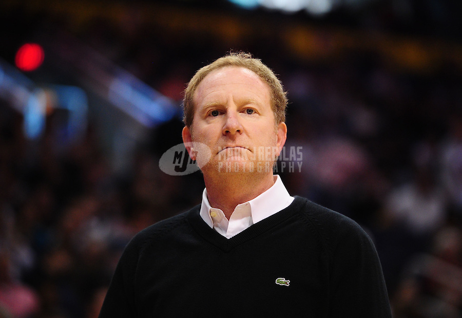 Jan. 14, 2011; Phoenix, AZ, USA; Phoenix Suns owner Robert Sarver against the Portland Trailblazers at the US Airways Center. The Suns defeated the Trailblazers 115-111. Mandatory Credit: Mark J. Rebilas-