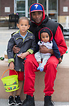 Five-year old Damon, Dwight and eight-month old Benjamin during the Easter Egg Hunt at Legends in Sparks, Nevada on Saturday, April 20, 2019.