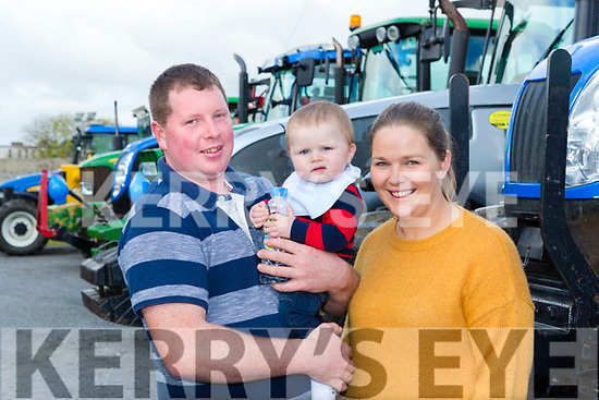 Ger Sean and Caroline Riordan Scartaglen at the Eamon Carey Memorial Truck and Tractor run in aid of Pieta House in Castleisland on Sunday