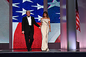 United States United States President Donald Trump and First Lady Melania Trump dance at the Liberty Ball on January 20, 2017 in Washington, D.C. Trump will attend a series of balls to cap his Inauguration day.       <br /> Credit: Kevin Dietsch / Pool via CNP