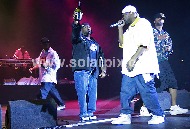 **ALL ROUND PICTURES FROM SOLARPIX.COM**.**WORLDWIDE SYNDICATION RIGHTS**.The Wu-Tang Clan perform at Hammersmith Apollo, London, Thursday 5th July 2007...This pic: Wu-Tang Clan..JOB REF: 4225-SSD     DATE: 06_07_2007.**MUST CREDIT SOLARPIX.COM OR DOUBLE FEE WILL BE CHARGED* *UNDER NO CIRCUMSTANCES IS THIS IMAGE TO BE REPRODUCED FOR ANY ONLINE EDITION WITHOUT PRIOR PERMISSION*