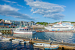 Tour boats in Bar Harbor, Maine, USA
