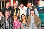 Charity: In preparation for the Charity Night in aid of the Cot Death Association, outside The Greyhound Bar, Tralee, on Saturday. Front l-r: Pa Dennehy, Deirdre Dennehy, Angie Pinto and Gene Dennehy. Back l-r: Joe OConnor, Dave Prendergast, Padraig Dennehy and Jer Clapham..