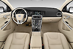 Stock photo of straight dashboard view of 2018 Volvo V60 T5 5 Door Wagon Dashboard