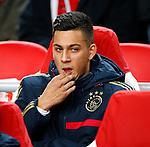 Nederland, Amsterdam, 20 februari 2014<br /> Europa League<br /> Seizoen 2013-2014<br /> Ajax-FC Salzburg<br /> Ricardo Kishna van Ajax zit op de reservebank
