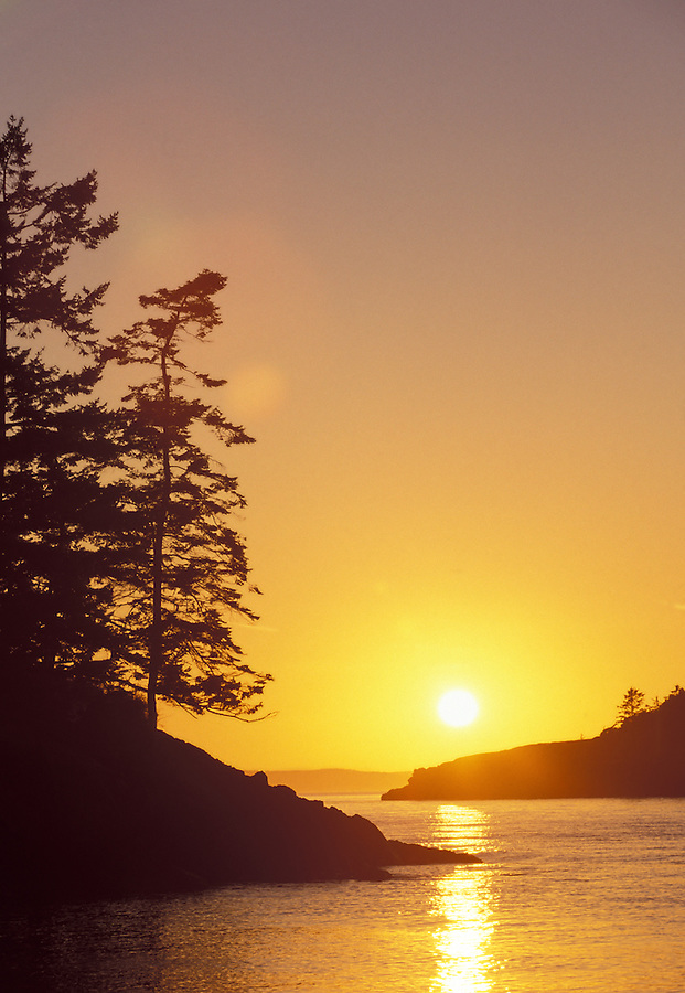 Sunset over Rosario Strait, Whidbey Island, Washington
