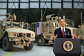 United States President Barack Obama addresses the nation from Bagram Air Field, Afghanistan, May 1, 2012. .Mandatory Credit: Pete Souza - White House via CNP