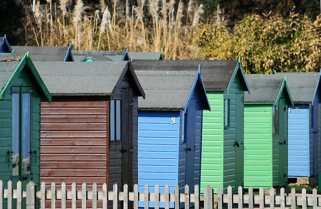 beach huts at bembridge