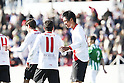 "(L-R) Alfaro, Hiroshi Ibusuki (Sevilla Atletico), JANUARY 29, 2012 - Football / Soccer : Hiroshi Ibusuki of Sevilla Atletico celebrates his goal during the Spanish ""Segunda Division B"" Group 4 match between Sevilla Atletico 1-1 Real Betis B at the Ciudad Deportiva de Sevilla, Sevilla, Spain. (Photo by AFLO) [3604]"