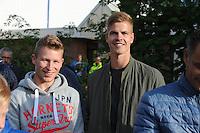 VOETBAL: LANGEZWAAG: Sportpark 'It Pardyske', 09-07-2015, SC Heerenveen - Motherwell F.C., uitslag 0-0, toeschouwers Doke Schmidt en Joost van Aken, ©foto Martin de Jong