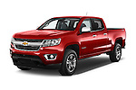 2015 Chevrolet Colorado LT Crew Cab Long Box 4 Door Truck Angular Front stock photos of front three quarter view