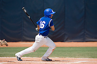 23 August 2007: Second base #16 Florian Peyrichou at bat during the France 8-4 victory over Czech Republic in the Good Luck Beijing International baseball tournament (olympic test event) at the Wukesong Baseball Field in Beijing, China.