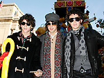 Jonas Brothers: Nick Jonas &amp; Joe Jonas &amp; Kevin Jonas<br /> appearing in the 2007 Macy's Thanksgiving Day Parade, New York City.<br /> November 22, 2007