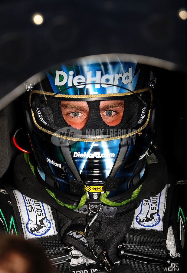 Sept. 5, 2010; Clermont, IN, USA; NHRA funny car driver Matt Hagan during qualifying for the U.S. Nationals at O'Reilly Raceway Park at Indianapolis. Mandatory Credit: Mark J. Rebilas-