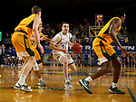 BROOKINGS, SD - JANUARY 22: Alex Arians #34 of the South Dakota State Jackrabbits drives to the basket against the North Dakota State Bison at Frost Arena on January 22, 2020 in Brookings, South Dakota. (Photo by Dave Eggen/Inertia)