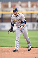 Burlington Bees first baseman Jared Walsh (21) during a game against the Quad Cities River Bandits on May 9, 2016 at Modern Woodmen Park in Davenport, Iowa.  Quad Cities defeated Burlington 12-4.  (Mike Janes/Four Seam Images)