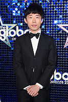Ji Liu arriving for the Global Awards 2018 at the Apollo Hammersmith, London, UK. <br /> 01 March  2018<br /> Picture: Steve Vas/Featureflash/SilverHub 0208 004 5359 sales@silverhubmedia.com