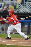 Batavia Muckdogs infielder Carlos Lopez (36) during a game against the Auburn Doubledays on July 3, 2013 at Dwyer Stadium in Batavia, New York.  Batavia defeated Auburn 12-2.  (Mike Janes/Four Seam Images)