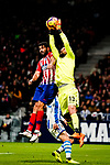 Goalkeeper Miguel Angel Moya of Real Sociedad (R) fights for the ball with Diego Costa of Atletico de Madrid (L) during the La Liga 2018-19 match between Atletico de Madrid and Real Sociedad at Wanda Metropolitano on October 27 2018 in Madrid, Spain.  Photo by Diego Souto / Power Sport Images