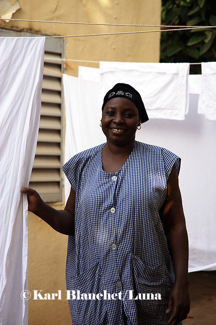 "Abi, house cleaner, Bamako..What do you think about Barak Obama? ""I am happy Obama is president because he is African""."