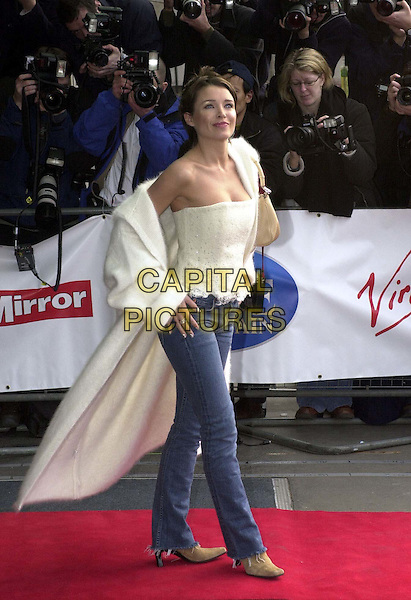 DANNI MINOGUE.Arrivals at the Pride of Britain Awards, at the Hilton.  .Ref: HT.denim, jeans, boob tube, corset, full length, full-length.*RAW SCAN - photo will be adjusted for publication*.www.capitalpictures.com.sales@capitalpictures.com.© Capital Pictures
