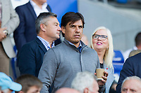 Wales manager Chris Coleman ahead of the Sky Bet Championship match between Cardiff City and Sheffield United in which Ched Evans is a Sheffield United substitute at Cardiff City Stadium, Cardiff, Wales on 15 August 2017. Photo by Mark  Hawkins / PRiME Media Images.