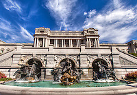 Court of Neptune Fountain Library of Congress Washington DC