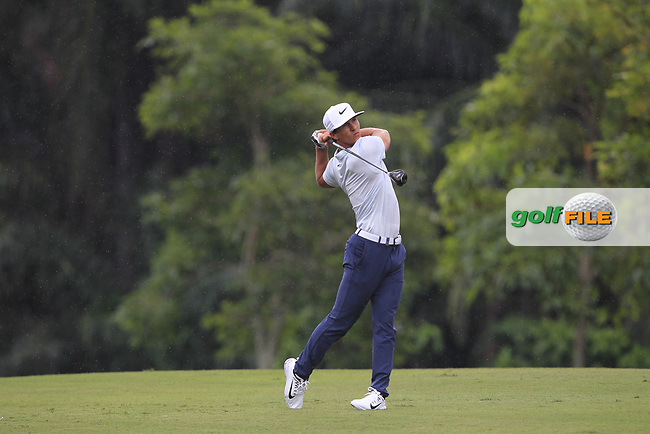 Thorbjorn Olesen (DEN) in action on the 5th during Round 1 of the Maybank Championship at the Saujana Golf and Country Club in Kuala Lumpur on Thursday 1st February 2018.<br /> Picture:  Thos Caffrey / www.golffile.ie<br /> <br /> All photo usage must carry mandatory copyright credit (© Golffile   Thos Caffrey)
