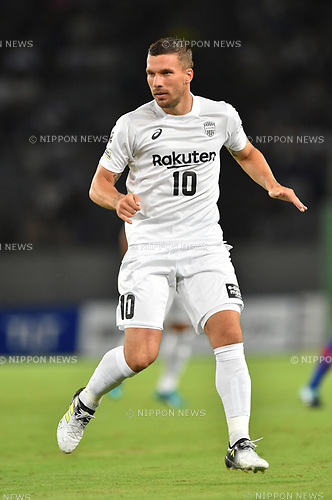 Lukas Podolski (Vissel),<br /> AUGUST 13, 2017 - Football / Soccer :<br /> 2017 J1 League match between F.C.Tokyo 1-0 Vissel Kobe at Ajinomoto Stadium in Tokyo, Japan. (Photo by AFLO)