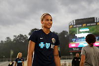 Cary, North Carolina  - Wednesday May 24, 2017: Lynn Williams prior to a regular season National Women's Soccer League (NWSL) match between the North Carolina Courage and the Sky Blue FC at Sahlen's Stadium at WakeMed Soccer Park. The Courage won the game 2-0.
