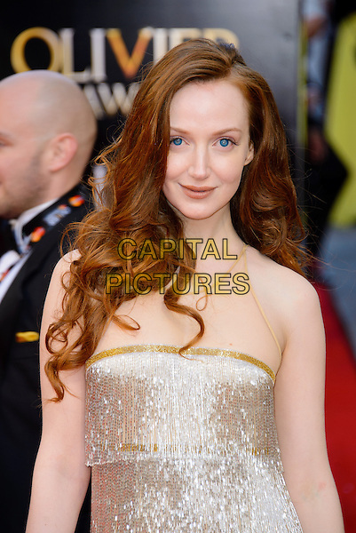 LONDON, ENGLAND - APRIL 13: Olivia Grant attends the Olivier Awards 2014 at the Royal Opera House on April 13, 2014 in London, England. <br /> CAP/CJ<br /> &copy;Chris Joseph/Capital Pictures