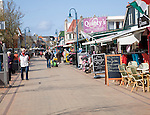 Tourist cafes and shops, De Koog, Texel, Netherlands,