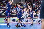Alen MILOSEVIC (#34 SC DHfK Leipzig) \Maximilian TROST (#25 SG Bietigheim) \Vetle RONNINGEN (#19 SG Bietigheim) \ beim Spiel in der Handball Bundesliga, SG BBM Bietigheim - SC DHfK Leipzig.<br /> <br /> Foto &copy; PIX-Sportfotos *** Foto ist honorarpflichtig! *** Auf Anfrage in hoeherer Qualitaet/Aufloesung. Belegexemplar erbeten. Veroeffentlichung ausschliesslich fuer journalistisch-publizistische Zwecke. For editorial use only.