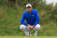 Oliver Wilson (ENG) on the 2nd green during Round 2 of the Alfred Dunhill Links Championship 2019 at Kingbarns Golf CLub, Fife, Scotland. 27/09/2019.<br /> Picture Thos Caffrey / Golffile.ie<br /> <br /> All photo usage must carry mandatory copyright credit (© Golffile | Thos Caffrey)