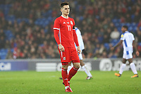 Tom Lawrence of Wales during the International Friendly match between Wales and Panama at The Cardiff City Stadium, Wales, UK. Tuesday 14 November 2017