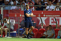 Tottenham manager Mauricio Pochettino during Girona FC vs Tottenham Hotspur, Friendly Match Football at Estadi Montilivi on 4th August 2018